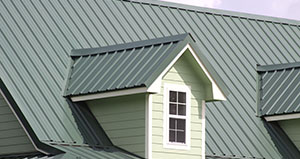 Metal Roof on House