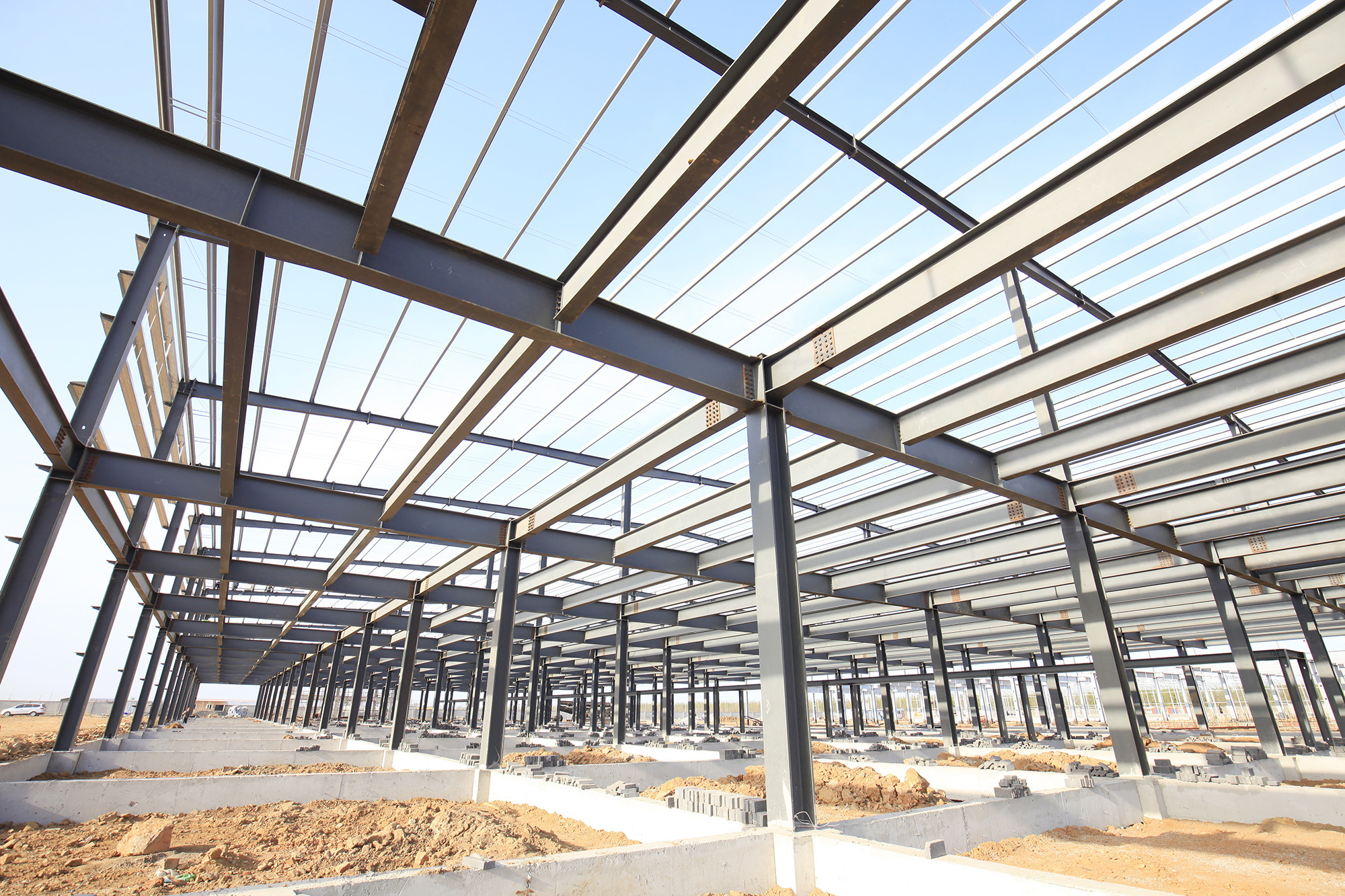 Steel Frame Structure for commercial warehouse