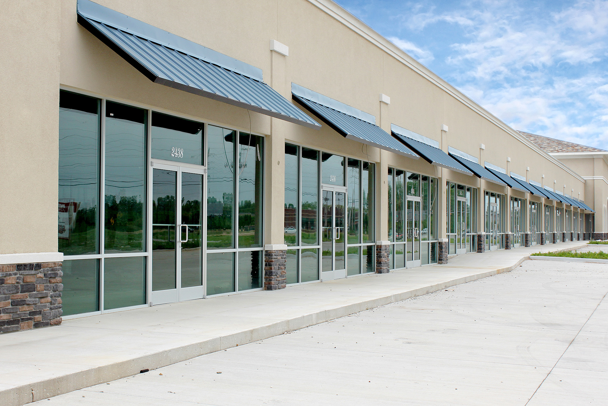 Metal Awnings for office buildings